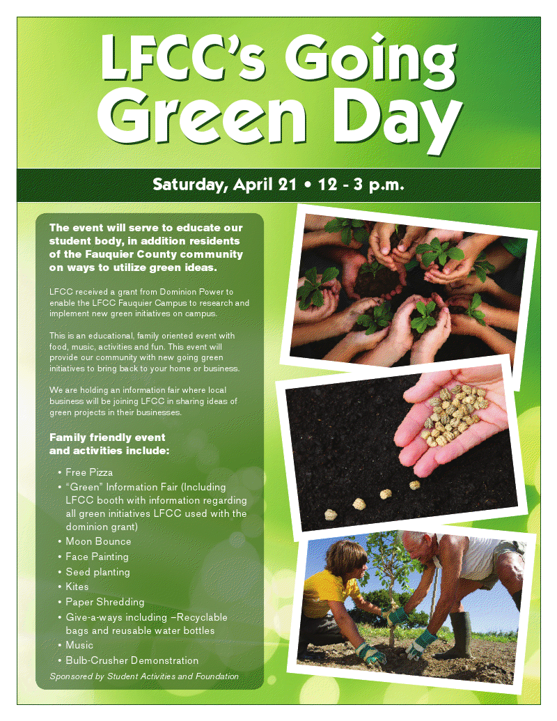 Join me for LFCC's Going Green Day!