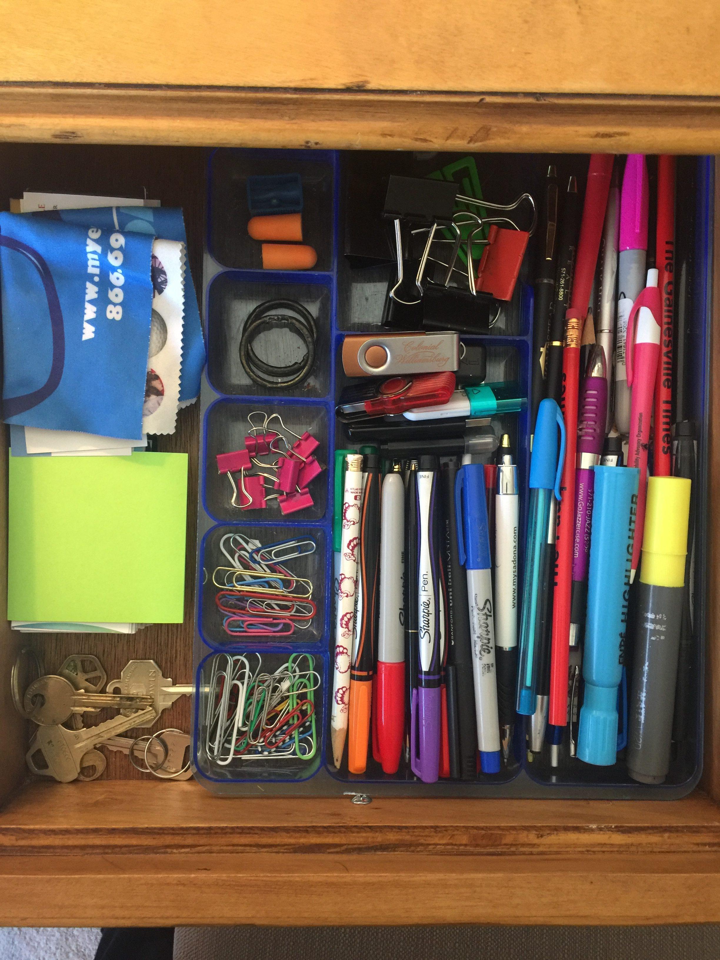 Keys in the desk drawer