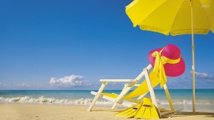beach chair yellow